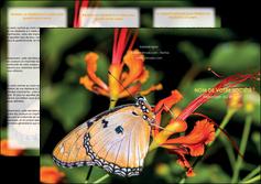 cree depliant 3 volets  6 pages  belle photo de papillon macro couleur MLGI36984