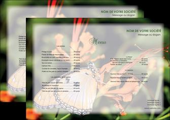 imprimer set de table belle photo de papillon macro couleur MLGI36988
