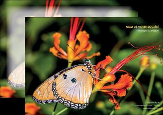 creation graphique en ligne affiche belle photo de papillon macro couleur MLGI36990