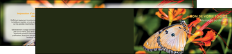 personnaliser modele de depliant 2 volets  4 pages  belle photo de papillon macro couleur MLGI37000
