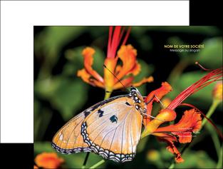exemple pochette a rabat belle photo de papillon macro couleur MLGI37002