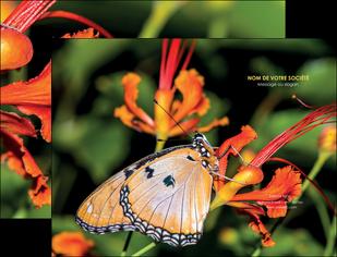 personnaliser maquette pochette a rabat belle photo de papillon macro couleur MLGI37004