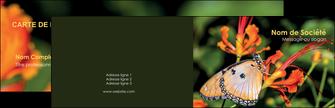 imprimer carte de visite belle photo de papillon macro couleur MLGI37008