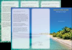 imprimerie depliant 3 volets  6 pages  sejours plage sable mer MLIP37036