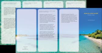 modele en ligne depliant 4 volets  8 pages  sejours plage sable mer MLGI37046