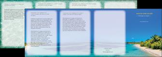 faire modele a imprimer depliant 4 volets  8 pages  sejours plage sable mer MLIP37048