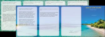 personnaliser modele de depliant 4 volets  8 pages  sejours plage sable mer MLIP37050