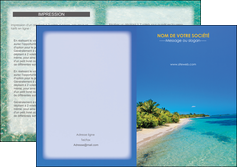 impression depliant 2 volets  4 pages  sejours plage sable mer MLIP37052