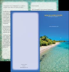 exemple depliant 2 volets  4 pages  sejours plage sable mer MLIP37054
