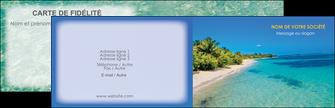 maquette en ligne a personnaliser carte de visite sejours plage sable mer MID37056