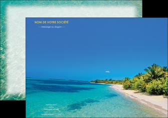 modele affiche sejours plage sable mer MLIP37058