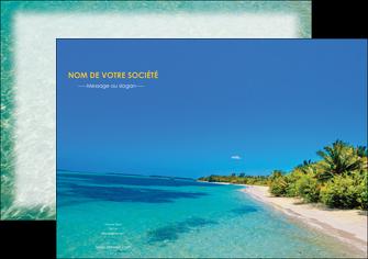 imprimerie affiche sejours plage sable mer MLIP37060