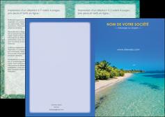 cree depliant 2 volets  4 pages  sejours plage sable mer MLIP37064