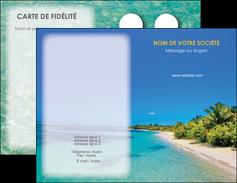 modele carte de visite sejours plage sable mer MLIP37066
