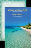 cree carte de visite voyagistes plage sable mer MLGI37068
