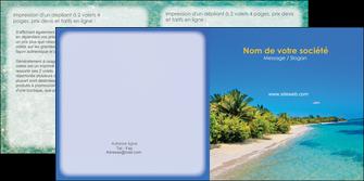 personnaliser maquette depliant 2 volets  4 pages  sejours plage sable mer MLIP37070
