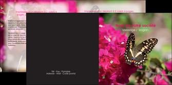 modele en ligne depliant 2 volets  4 pages  agriculture papillons fleurs nature MLGI37108