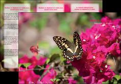 modele en ligne depliant 3 volets  6 pages  agriculture papillons fleurs nature MLGI37112