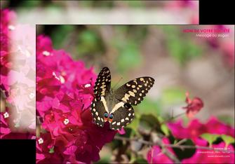 exemple affiche agriculture papillons fleurs nature MLGI37118