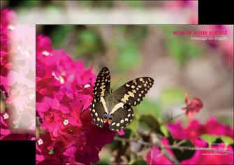 imprimer affiche agriculture papillons fleurs nature MLGI37120
