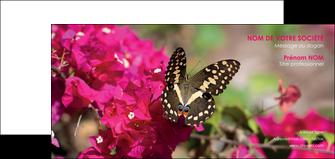 impression carte de correspondance agriculture papillons fleurs nature MLGI37122