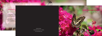 creer modele en ligne depliant 2 volets  4 pages  agriculture papillons fleurs nature MLGI37126