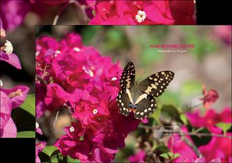 impression pochette a rabat agriculture papillons fleurs nature MLGI37130