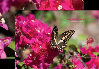 imprimerie pochette a rabat agriculture papillons fleurs nature MLGI37132