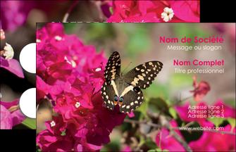 personnaliser modele de carte de visite agriculture papillons fleurs nature MLGI37134