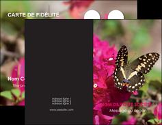 modele en ligne carte de visite agriculture papillons fleurs nature MLGI37136