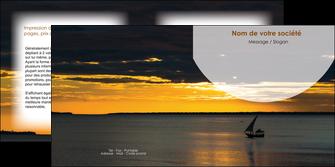 creation graphique en ligne depliant 2 volets  4 pages  sejours paysage mer pirogue MLGI37138