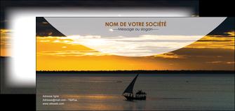 imprimerie flyers sejours paysage mer pirogue MLGI37140
