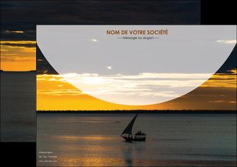 modele affiche sejours paysage mer pirogue MLGI37150