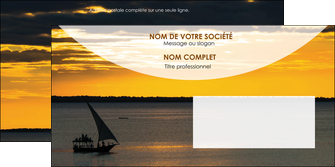 creation graphique en ligne enveloppe sejours paysage mer pirogue MLGI37152