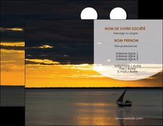 exemple carte de visite sejours paysage mer pirogue MLGI37154