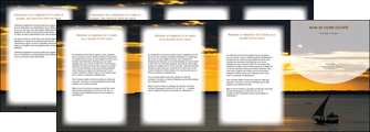 modele depliant 4 volets  8 pages  sejours paysage mer pirogue MLGI37158