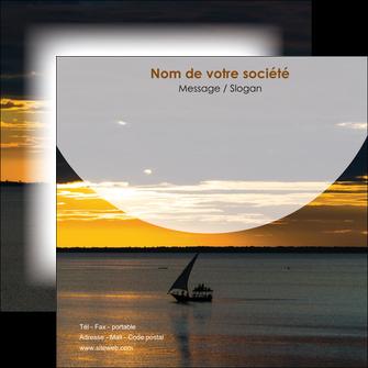 imprimer flyers sejours paysage mer pirogue MLGI37170