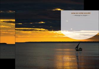 modele en ligne pochette a rabat sejours paysage mer pirogue MLGI37172