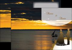 imprimerie depliant 2 volets  4 pages  mer pirogue couche du soleil MLGI37190
