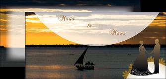 creer modele en ligne flyers mer pirogue couche du soleil MLGI37204
