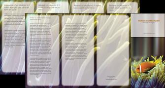 personnaliser modele de depliant 4 volets  8 pages  animal originale belle photo idee MLGI37456