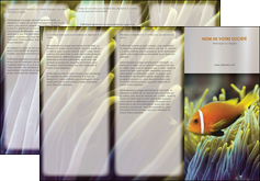 maquette en ligne a personnaliser depliant 3 volets  6 pages  animal originale belle photo idee MLGI37468