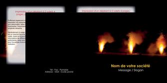 personnaliser modele de depliant 2 volets  4 pages  evenement evenementiel lumiere MID37506