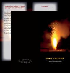 creer modele en ligne depliant 2 volets  4 pages  evenement evenementiel lumiere MID37508