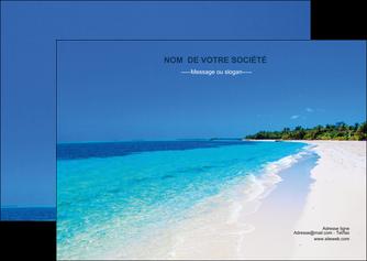 maquette en ligne a personnaliser flyers sejours plage mer sable blanc MLGI37566