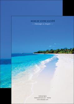 creer modele en ligne flyers sejours plage mer sable blanc MLGI37568