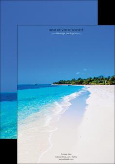 personnaliser modele de affiche sejours plage mer sable blanc MLGI37570