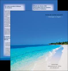 creer modele en ligne depliant 2 volets  4 pages  sejours plage mer sable blanc MLGI37574
