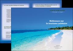modele en ligne depliant 2 volets  4 pages  sejours plage mer sable blanc MLGI37576