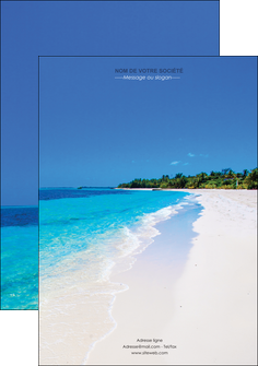faire flyers sejours plage mer sable blanc MLGI37578